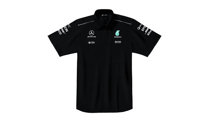 Camisa, Caballero, Team  Negro, XS