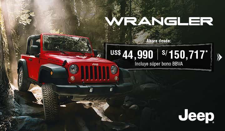 En agosto ¡Tu Jeep Wrangler desde US$ 44,990!