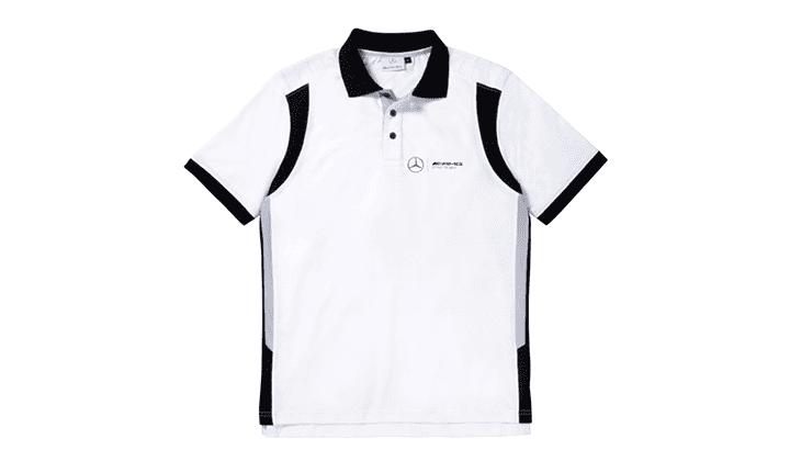 Polo De Caballero Blanco / Negro L