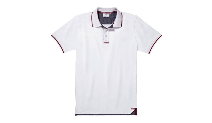 Polo De Caballero Blanco / Rojo M