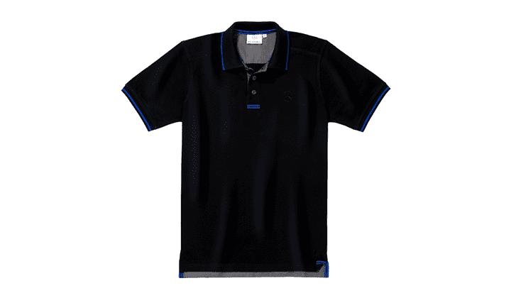 Polo De Caballero Negro/Azul, M